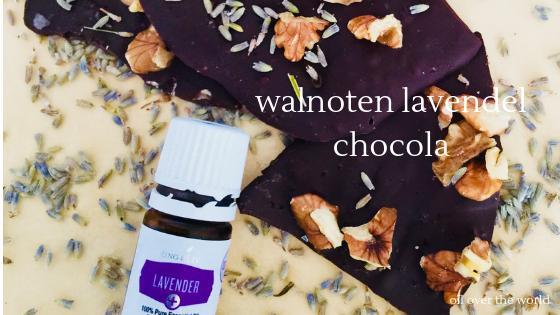 recept walnoten lavendel chocola